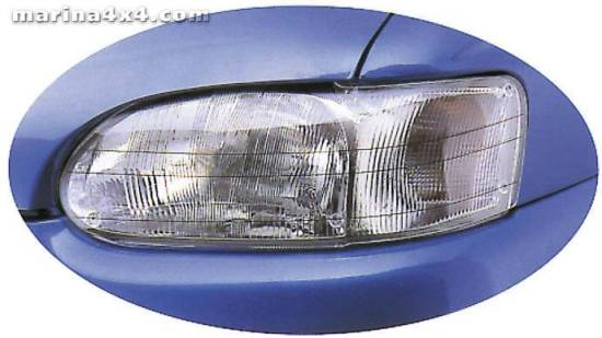 HEADLAMP GUARDS TOYOTA LC 100 PROTECTION PHARES PLEXI